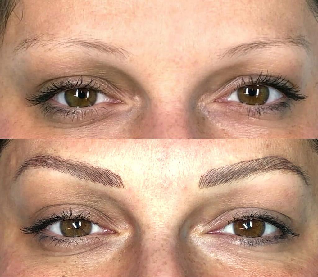 Trucco Permanente - Permanent Makeup Sopracciglia Prima & Dopo